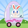 bunny egg cart icon